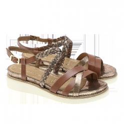 Tamaris - Flettet sandal solbrun